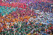 Human towers 'castellers' in colorful competition