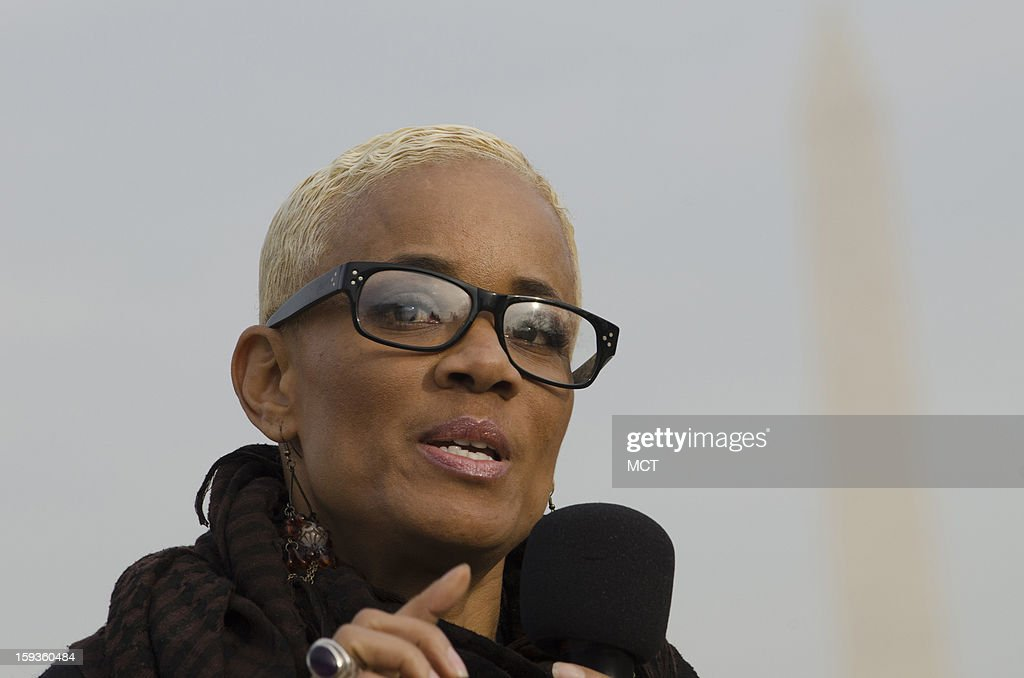 Human trafficking and sex trade survivor and current actress Brook Bello speaks during the Washington DC Emancipation Rally, A Prayer rally to End Modern-Day Slavery and Human Trafficking, at the Lincoln Memorial in Washington, D.C., Sunday, January 12, 2013. The rally, which is meant to raise awareness of human trafficking, is being held in conjunction with the Weekend of Prayer to End Slavery and Trafficking.