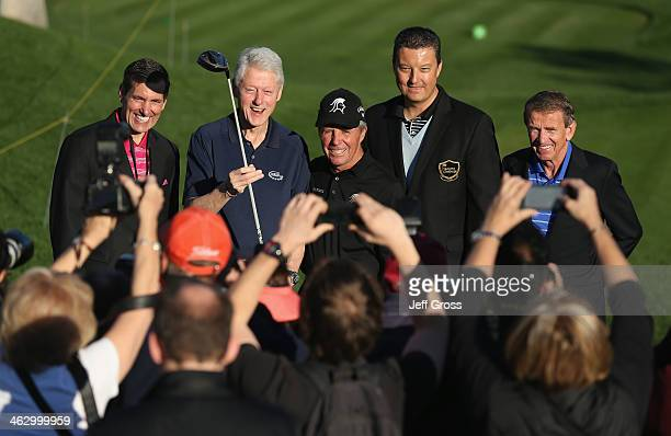 Humana President and CEO Bruce Broussard Former US President Bill Clinton Hall of Fame golfer Gary Player Executive Director and CEO of the Humana...