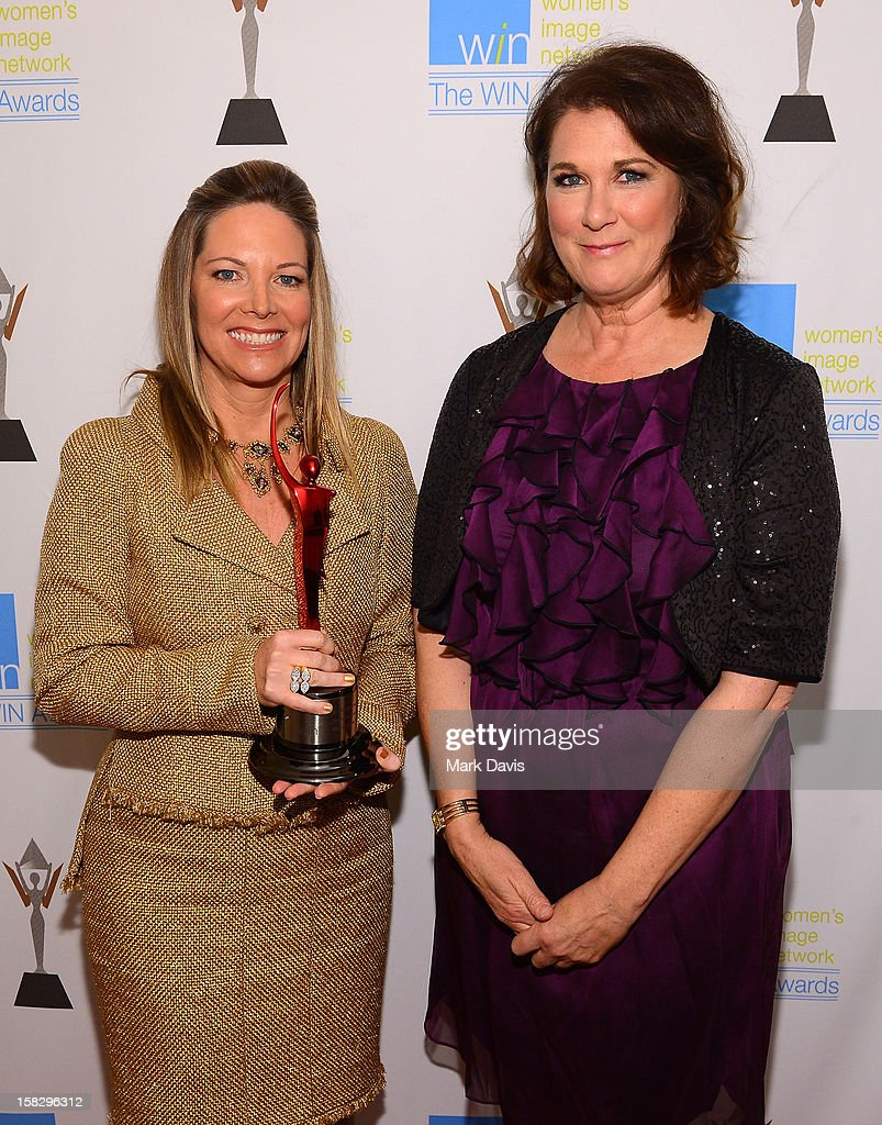 Humanitarian Award Honoree Maria Arena Bell and WIN Awards Founder Phyllis Stuart attend the 14th Annual Women's Image Network Awards at Paramount Theater on the Paramount Studios lot on December 12, 2012 in Hollywood, California.