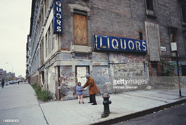 Humanitarian Clara Hale aka Mother Hale with a child in Harlem New York City 1986 Hale founded the Hale House Center for the children of drug addicts
