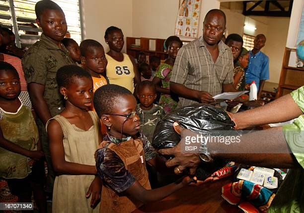 Humanitarian medicine Photo essay in Togo West Africa Chain of Hope distributes hygiene products in a school