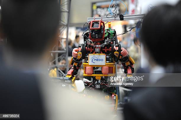 Humanoid Robot for Disaster of the New Energy and Industrial Technology Development Organiwation is seen during the international Robot exhibition...