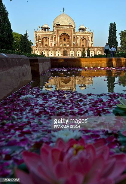 Humayun's Tomb is pictured after the inauguration ceremony in New Delhi on September 18 2013 One of New Delhi's most famous monuments a mausoleum...