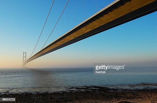 Humber-Brücke in der Abenddämmerung