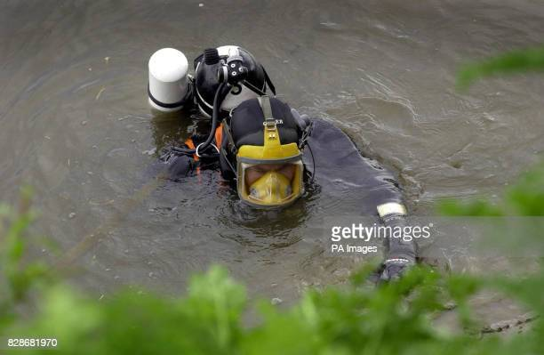 A Humberside Police diver searches the River Trent for 18yearold Laura Torn who disappeared after visiting the Crooked Billet pub in Owston Ferry...