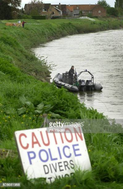Humberside Police divers search the River Trent for 18yearold Laura Torn who disappeared after visiting the Crooked Billet pub in Owston Ferry North...