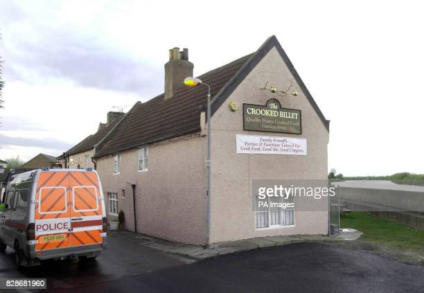 A Humberside Police van stands outside the Crooked Billet pub in Owston Ferry North Lincolnshire from where 18yearold Laura Torn disappeared *...