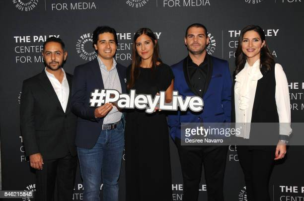 Humberto Busto Christian Gabela Camila Jimenez Villa Marco de la O and Katiria Soto attend Paley Center Presents an Exclusive Look Inside 'El Chapo'...
