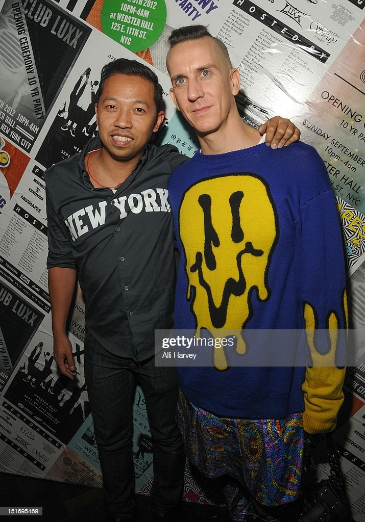 Humberto Leon and Jeremy Scott attend the Opening Ceremony Spring/Summer 2013 Fashion Week Party at Webster Hall on September 9, 2012 in New York City.