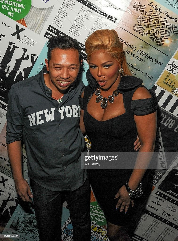 Humberto Leon and Lil' Kim attend the Opening Ceremony Spring/Summer 2013 Fashion Week Party at Webster Hall on September 9, 2012 in New York City.