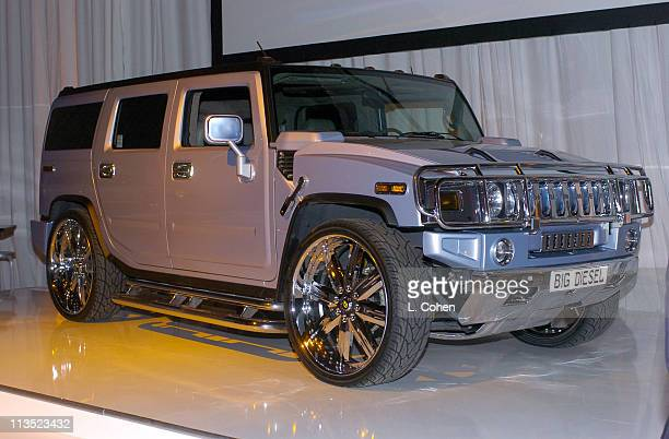 Hummer H2 during General Motors Shaquille O'Neal Present Rollin' 24 Deep GMAll Car Showdown Red Carpet at Raleigh Studios in Hollywood California...