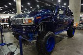 Hummer H2 is displayed at DUB Show 2015 custom cars exhibition at Los Angeles Convention Center on March 01 2015 in Los Angeles CA DUB Show 2015 is...