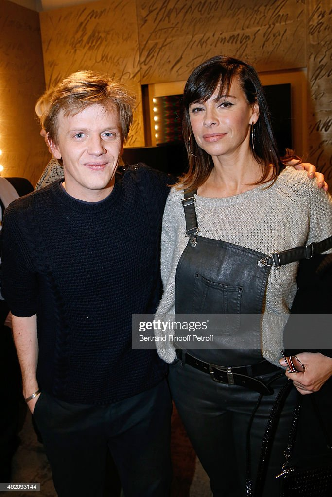 Humorist Alex Lutz and actress Mathilda May attend Alex Lutz in his One man Show at L'Olympia on January 24, 2015 in Paris, France.