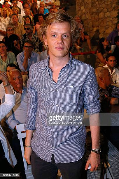 Humorist Alex Lutz attends the 'La Venus a la Fourrure' Theater play during the 31th Ramatuelle Festival Day 7 on August 7 2015 in Ramatuelle France