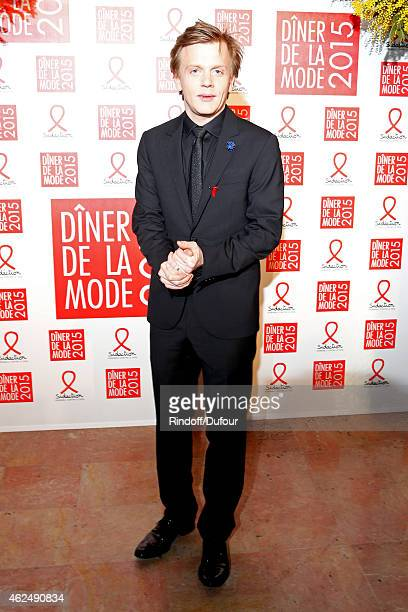Humorist Alex Lutz attends the Sidaction Gala Dinner 2015 at Pavillon d'Armenonville on January 29 2015 in Paris France