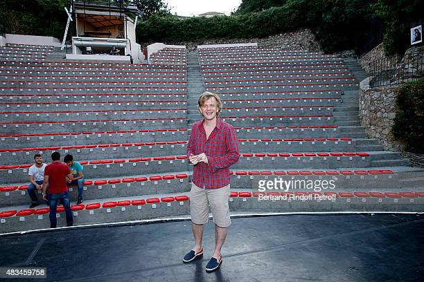 Humorist Alex Lutz Show poses on stage before his show during the 31th Ramatuelle Festival Day 8 on August 8 2015 in Ramatuelle France