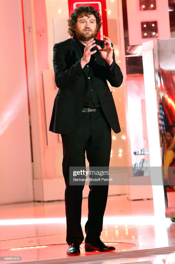 Humorist and magician Olivier de Benoist performs at ' the 'Vivement Dimanche' French TV Show, held at Pavillon Gabriel on May 14, 2014 in Paris, France.