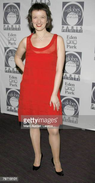 Humorist Anne Roumanoff attends the Globes de Cristal ceremony held at the Lido on the Champs Elysees in Paris France on February 11 2008