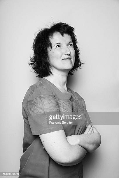 Humorist Anne Roumanoff is photographed for Self Assignment on July 10 2015 in Paris France