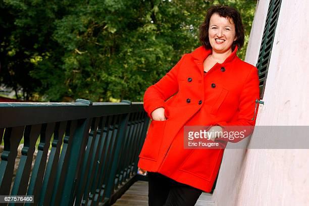 Humorist Anne Roumanoff Photographed in PARIS