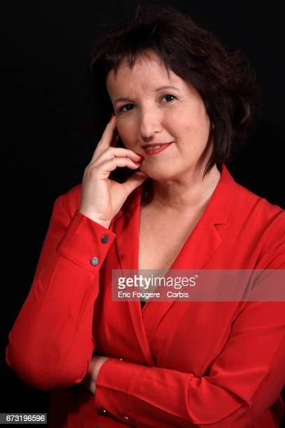 Humorist Anne Roumanoff poses during a portrait session in Paris France on March 8 2017