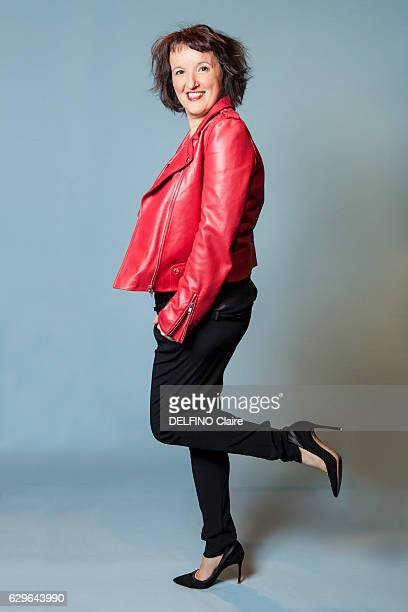 Humorist Anne Roumanoff poses for Paris Match on september 14 2016 in Paris France