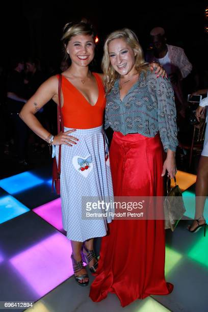 Humorist Berengere Krief and actress Marilou Berry attend the JeanPaul Gaultier 'Scandal' Fragrance Launch at Hotel de Behague on June 15 2017 in...
