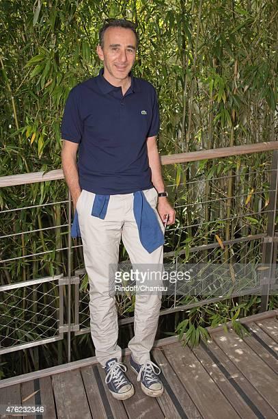 Humorist Elie Semoun attends the Men Final of 2015 Roland Garros French Tennis Open Day Fithteen on June 7 2015 in Paris France