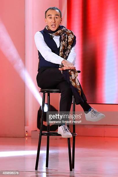 Humorist Elie Semoun performs and presents his show 'A partager' at 'La nouvelle Eve' during the 'Vivement Dimanche' French TV Show special Album 'La...
