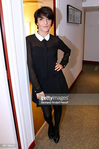 Humorist Florence Foresti attends the 'Vivement Dimanche' French TV Show at Pavillon Gabriel on November 6 2013 in Paris France