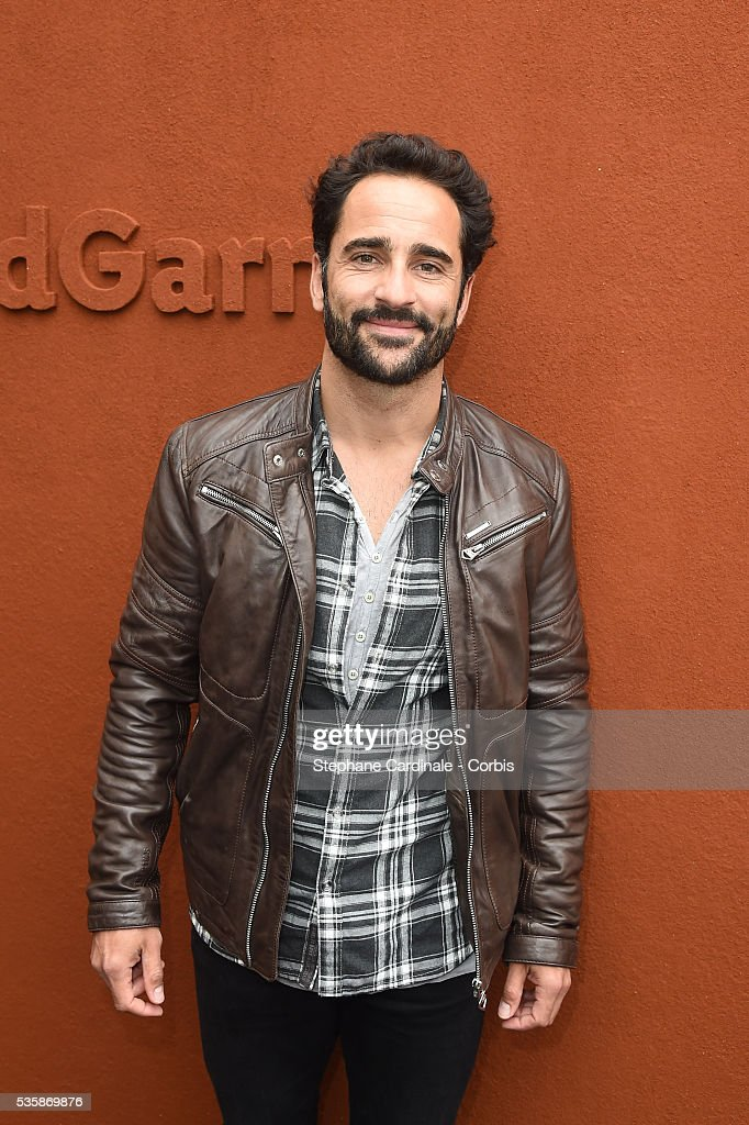 Humorist Florent Peyre attends day nine of the 2016 French Open at Roland Garros on May 30, 2016 in Paris, France.