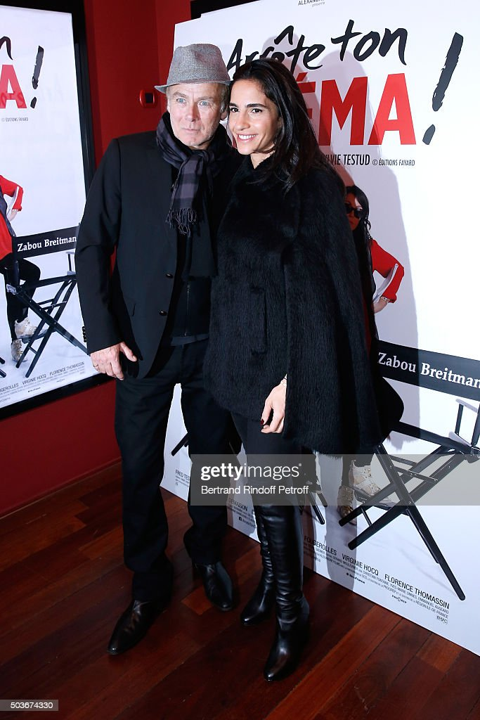 Humorist Franck Dubosc and his wife Daniele attend the 'Arrete Ton Cinema !' Paris Premiere at Publicis Champs Elysees on January 6, 2016 in Paris, France.