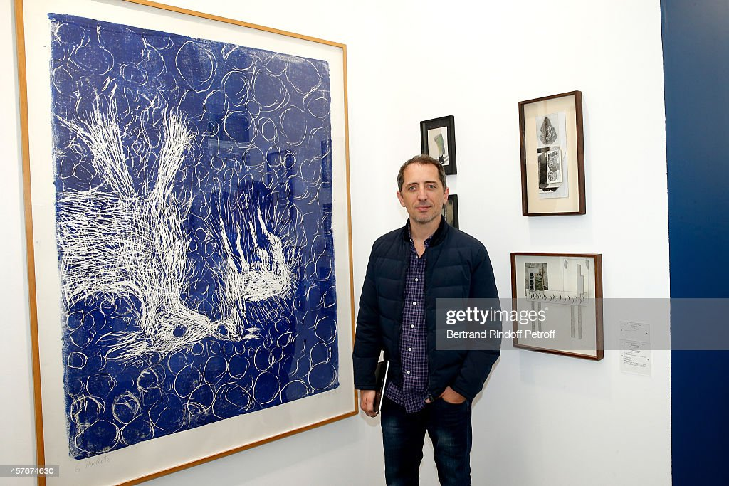Humorist Gad Elmaleh attends the FIAC 2014 - International Contemporary Art Fair - : Official Opening at Le Grand Palais on October 22, 2014 in Paris, France.