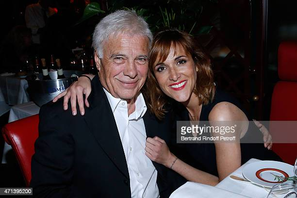 Humorist Guy Bedos and his daughter Victoria attend the Dinner after the 27th 'Nuit Des Molieres' 2015 Held at Closerie des Lilas on April 27 2015 in...