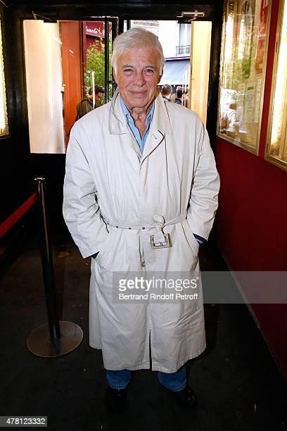 Humorist Guy Bedos attends the 2015 Public performance of 'L'Entree Des Artistes' Held at Theatre de la Gaite Montparnasse on June 22 2015 in Paris...