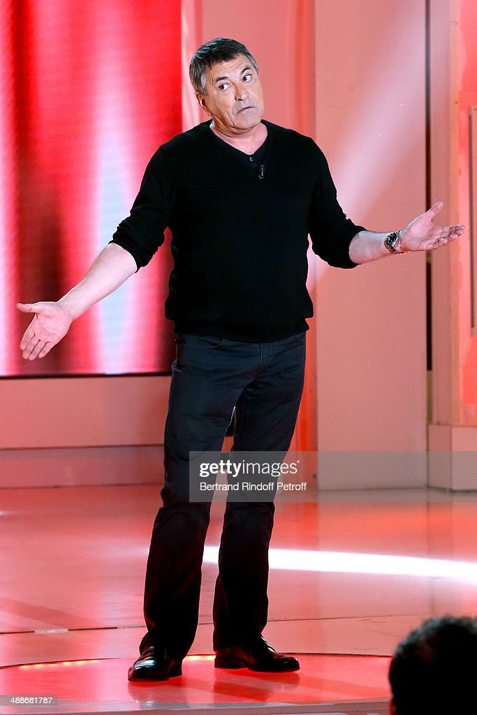 Humorist Jean-Marie Bigard performs and presents his show for his 60th birthday at ' the 'Vivement Dimanche' French TV Show, held at Pavillon Gabriel on May 14, 2014 in Paris, France.