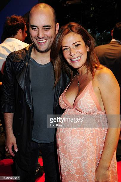 Humorist Jerome Commandeur and TV journalist Elsa Fayer attend the Motor Village Opening Party at Motor Village Champs Elysees on July 1 2010 in...