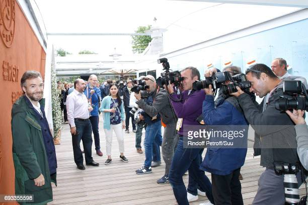 Humorist Jonathan Lambert attends the 2017 French Tennis Open Day Eleven at Roland Garros on June 7 2017 in Paris France