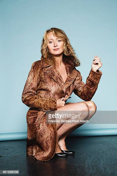 Humorist Julie Ferrier is photographed for Paris Match on January 5 2015 in Paris France