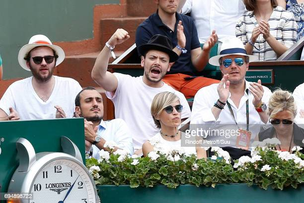 Humorist Kev Adams attends the Men Final of the 2017 French Tennis Open Day Fithteen at Roland Garros on June 11 2017 in Paris France