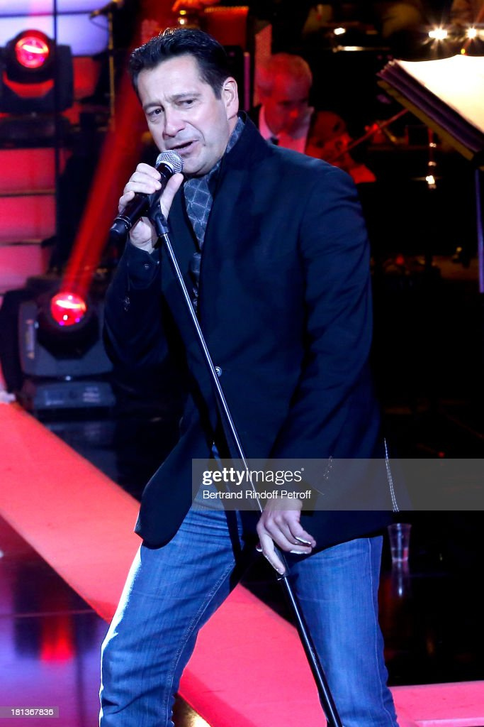 Humorist <a gi-track='captionPersonalityLinkClicked' href=/galleries/search?phrase=Laurent+Gerra&family=editorial&specificpeople=538435 ng-click='$event.stopPropagation()'>Laurent Gerra</a> performs at 'Le Grand Show' by <a gi-track='captionPersonalityLinkClicked' href=/galleries/search?phrase=Laurent+Gerra&family=editorial&specificpeople=538435 ng-click='$event.stopPropagation()'>Laurent Gerra</a> : Rehearsal at La Plaine Saint Denis on September 20, 2013 in Paris, France.
