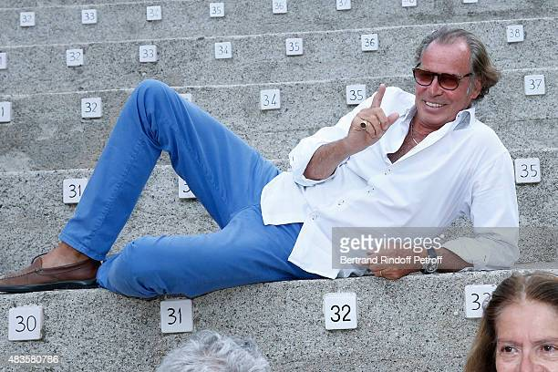 Humorist Michel Leeb poses before his 'Michel Leeb Part en Live ' show during the 31th Ramatuelle Festival Day 9 on August 9 2015 in Ramatuelle France