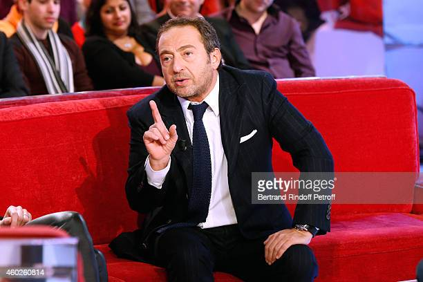 Humorist Patrick Timsit presents his show 'On ne peut pas rire de tout' held at Theatre du Rond Point from January 20 2015 to February 22 2015 during...