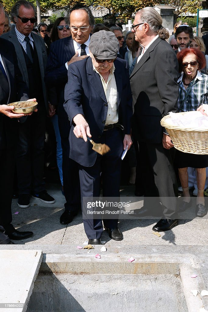 Humorist Popeck attends President of FIFA protocol Doctor Pierre Huth's Funeral in Nogent Sur Marne cemetery on August 30, 2013 in Nogent-sur-Marne, France.