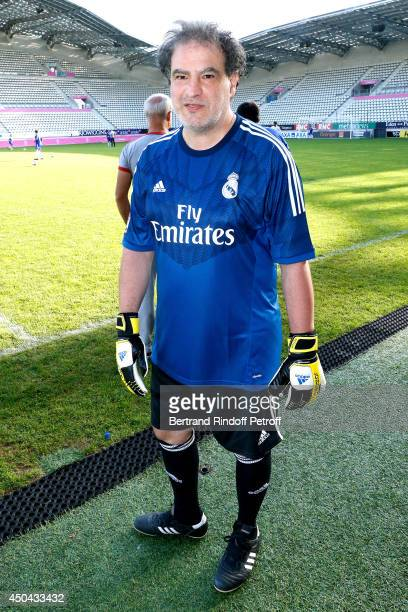 Humorist Raphael Mezrahi attends the Football match for the benefit of the association 'Plus fort la vie' at Stade Jean Bouin on June 9 2014 in Paris...