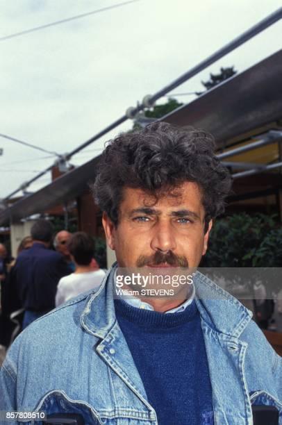 L'humoriste et realisateur Michel Boujenah est venu assister au tournoi de tennis a Roland Garros mai 1994 Paris France