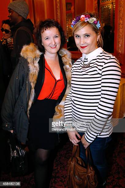 Humorists Anne Roumanoff and Berengere Krief attend the 150th Representation of the 'Je prefere qu'on reste amis' Theater Play at Theatre Antoine on...
