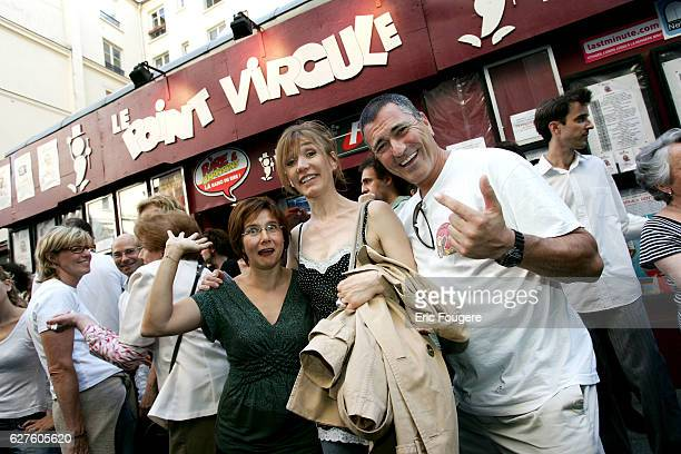 Humorists Sophie Forte Virginie Lemoine and JeanMarie Bigard