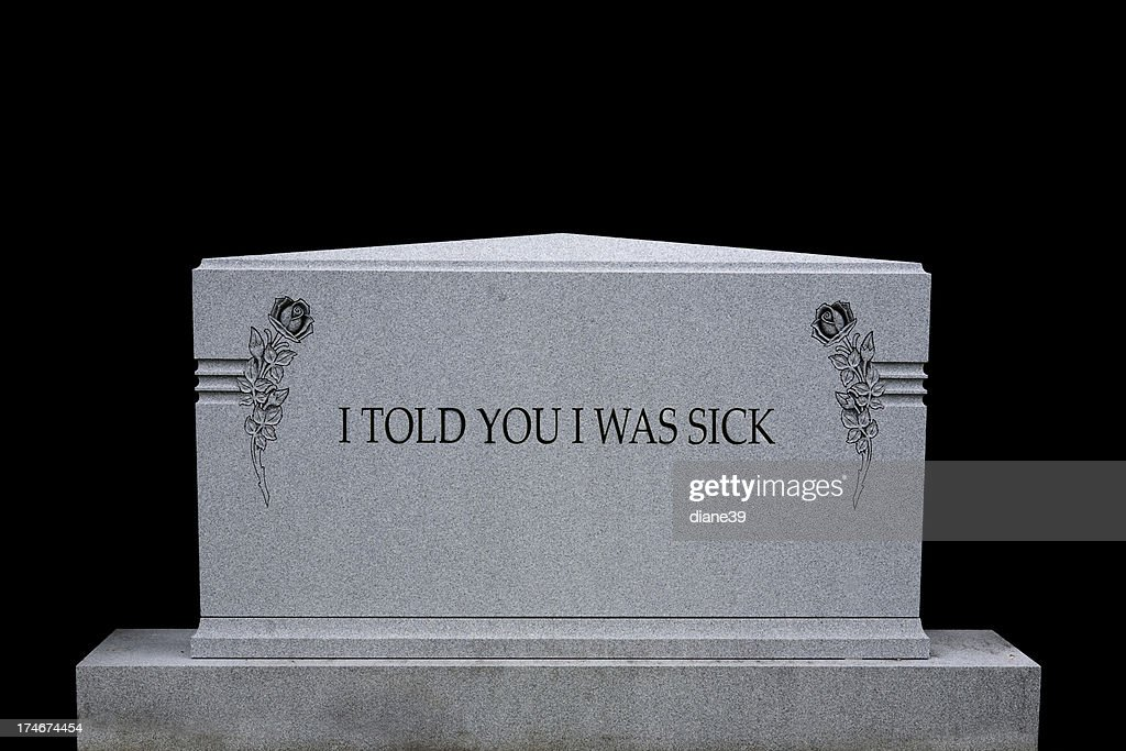 Humorous headstone : Stockfoto